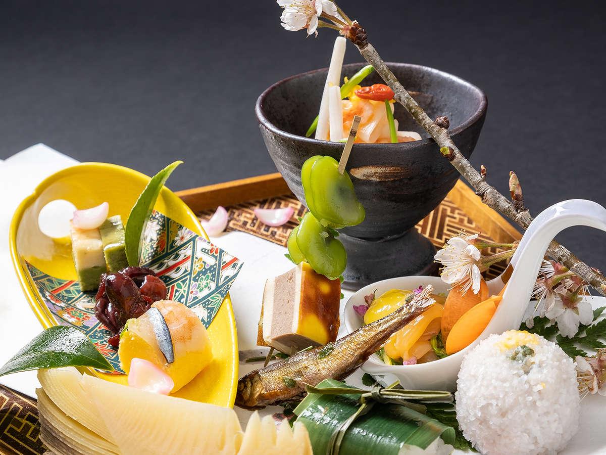 ~心尽くしを美味に託した春秋料理~新鮮な山海の滋味を活かし、 丹精込めて仕立てたお料理をご堪能下さい