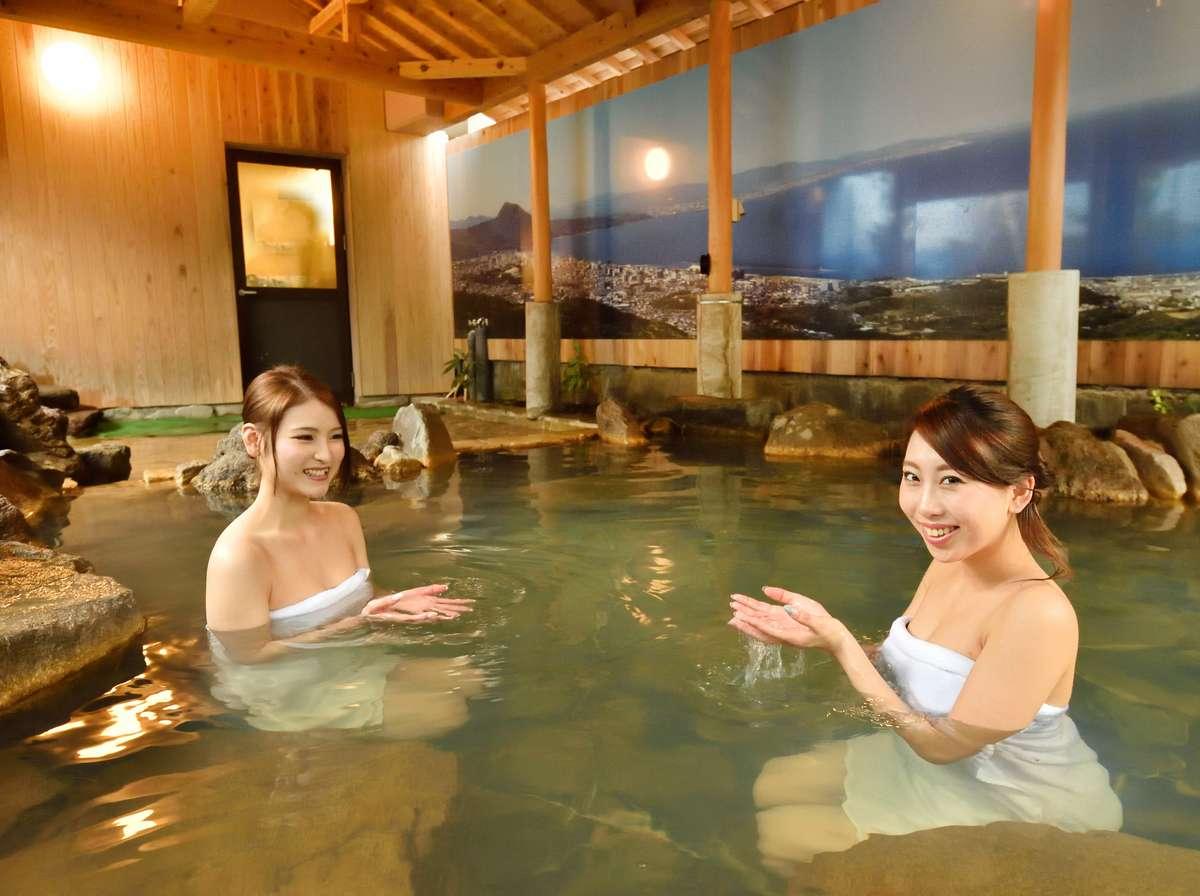 系列宿(徒歩2分)の温泉に無料で入浴可!