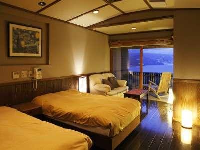 和洋貴賓室(月光の間)の洋室から見る景色