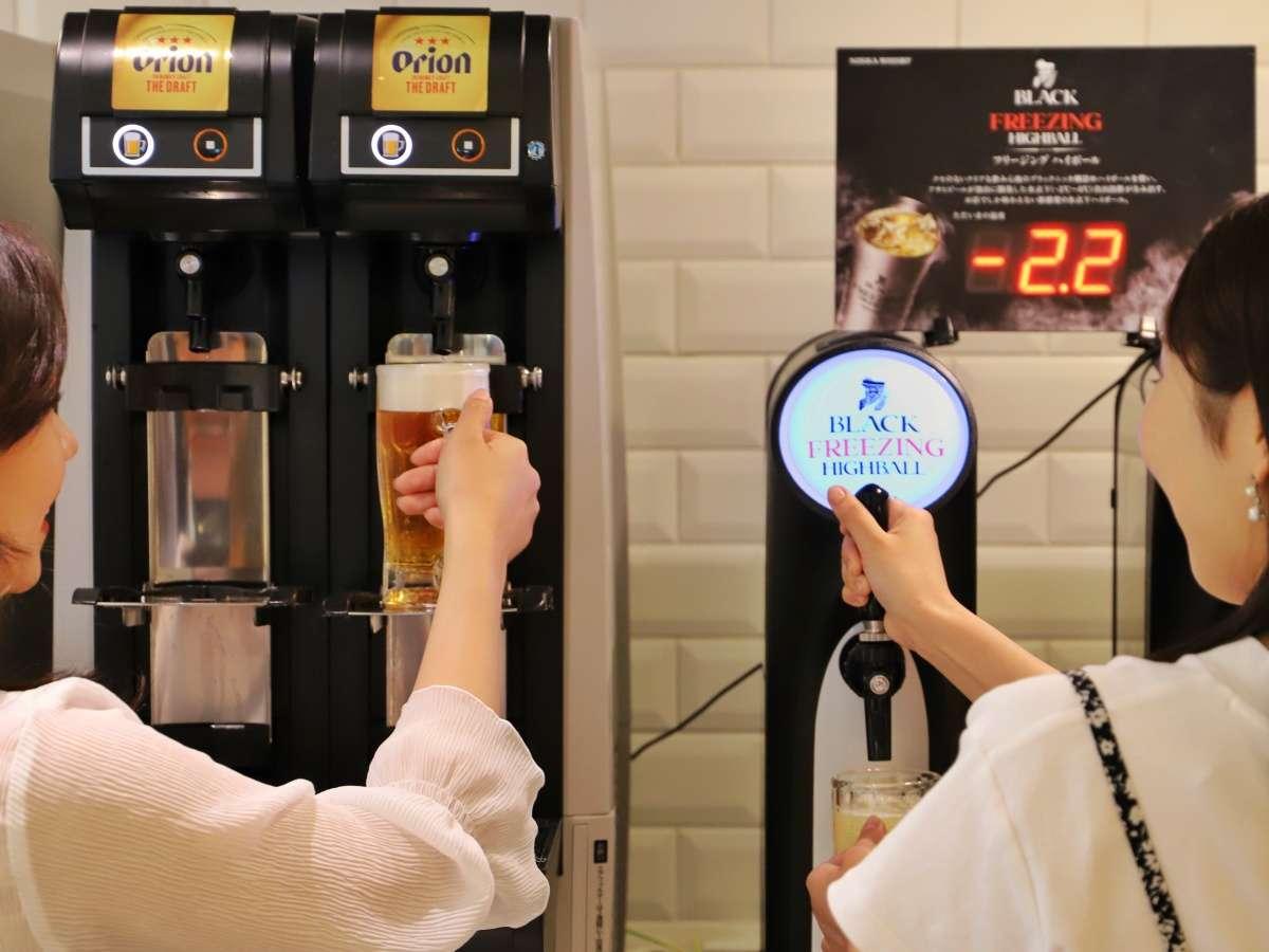 10時~22時はオリオンビール・ハイボール・泡盛が飲み放題!チェックイン後も18時までOK♪
