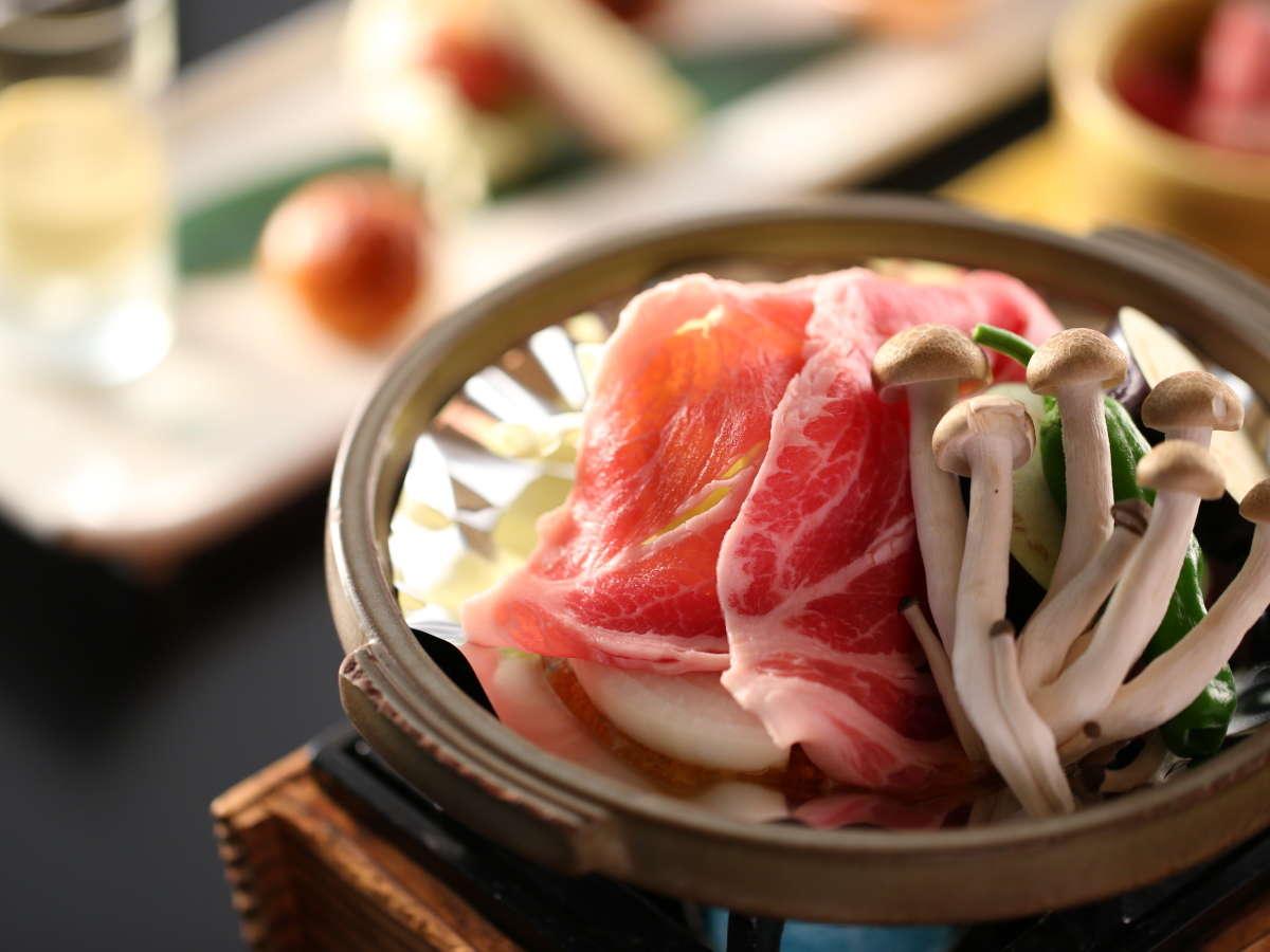 【夕食一例】駒の湯特製味噌の陶板焼き