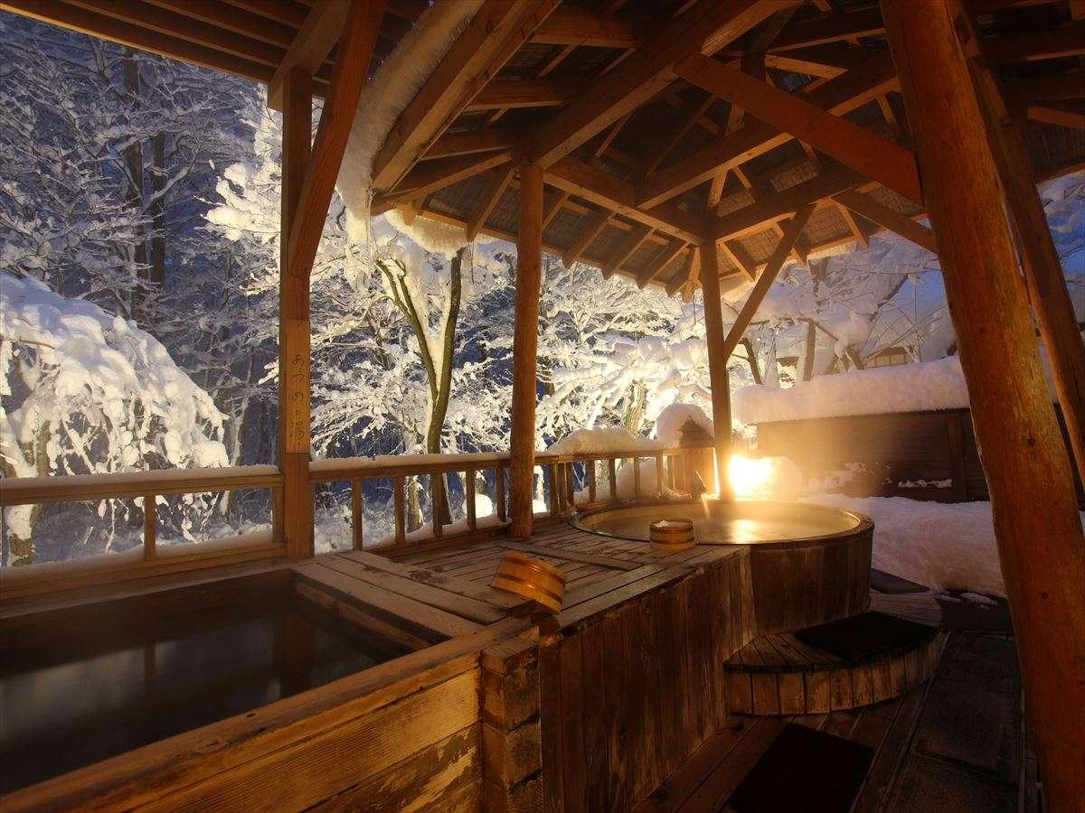 【大浴場 露天風呂】どこか幻想的な世界の冬景色をお愉しみ下さい