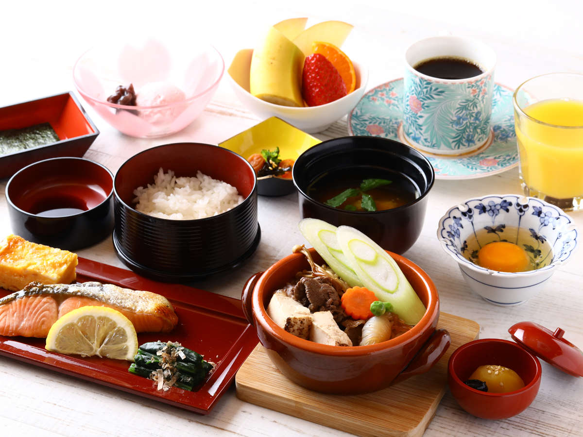 彩り豊かな和朝食♪幼児は朝食サービス!食物アレルギーをお持ちの方は、事前にお申付け下さい。