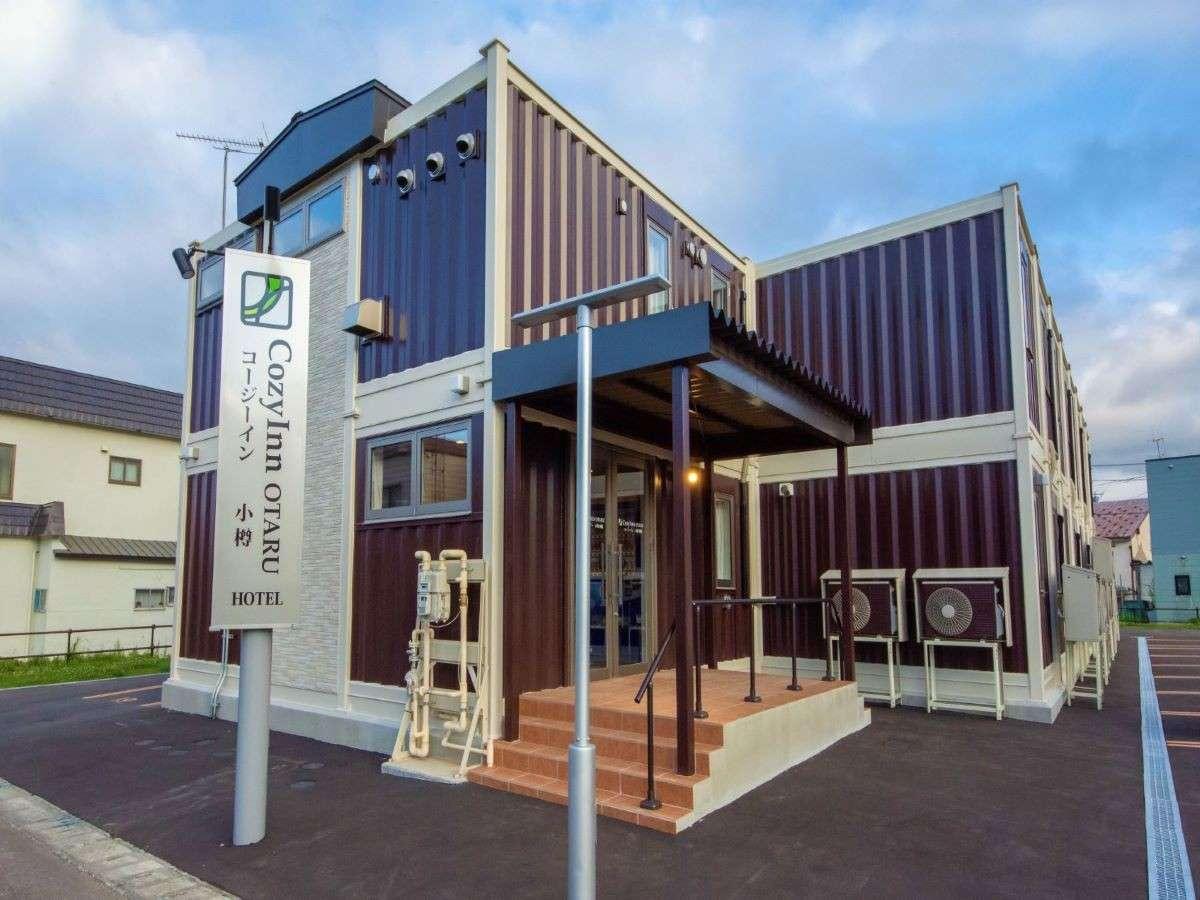 北海道初!!コンテナ式ホテル 頑丈な作りで快適なお部屋です。