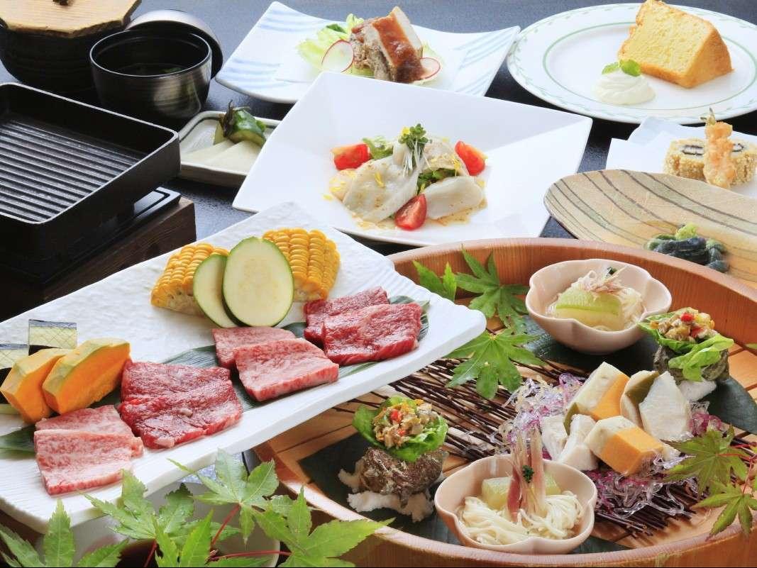 【ご夕食一例】前沢牛と短角牛のサーロイン食べ比べ/メイン料理グレードアップ※イメージ