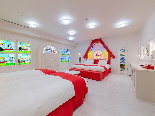 スヌーピーハウスルーム(最大6名様) ■4階 ■広さ:66平米