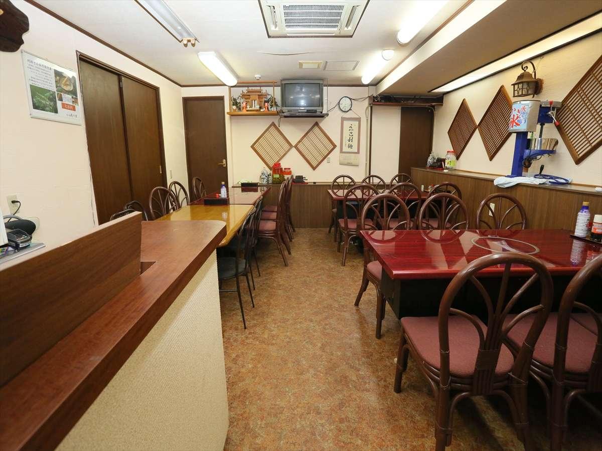 約50名収容可能な大食堂