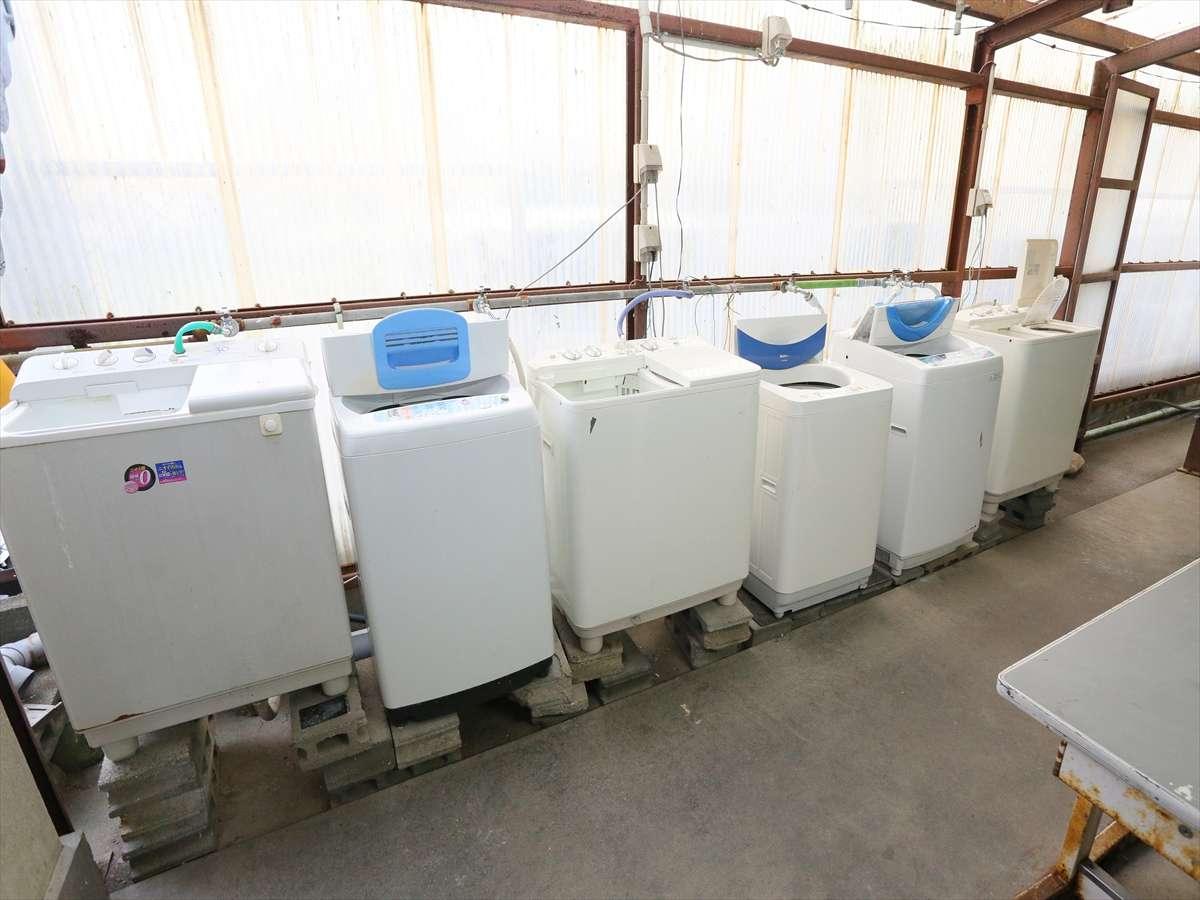 洗濯機は多数配備!