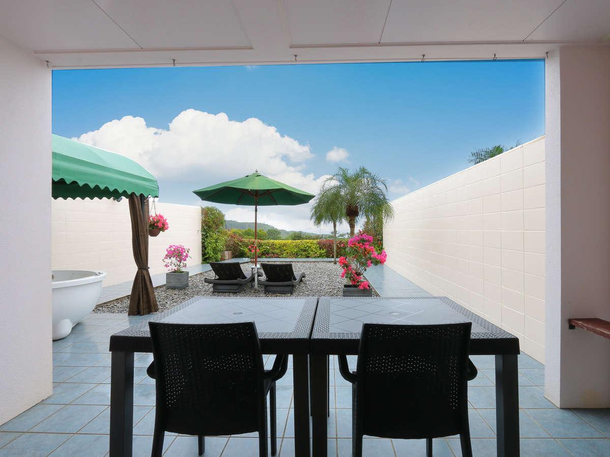 客室専用ガーデン