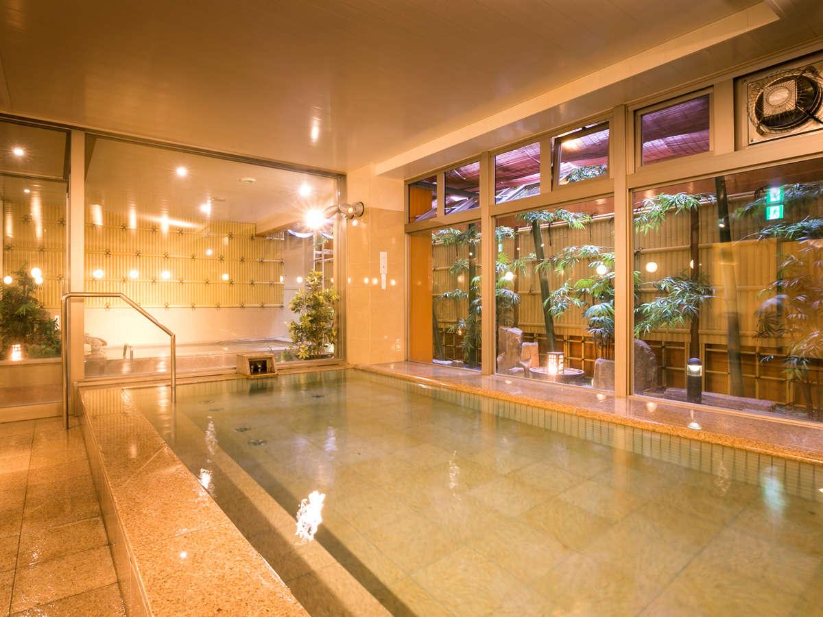 ◆大浴場(男湯)◆和テイストな大浴場でまったり♪
