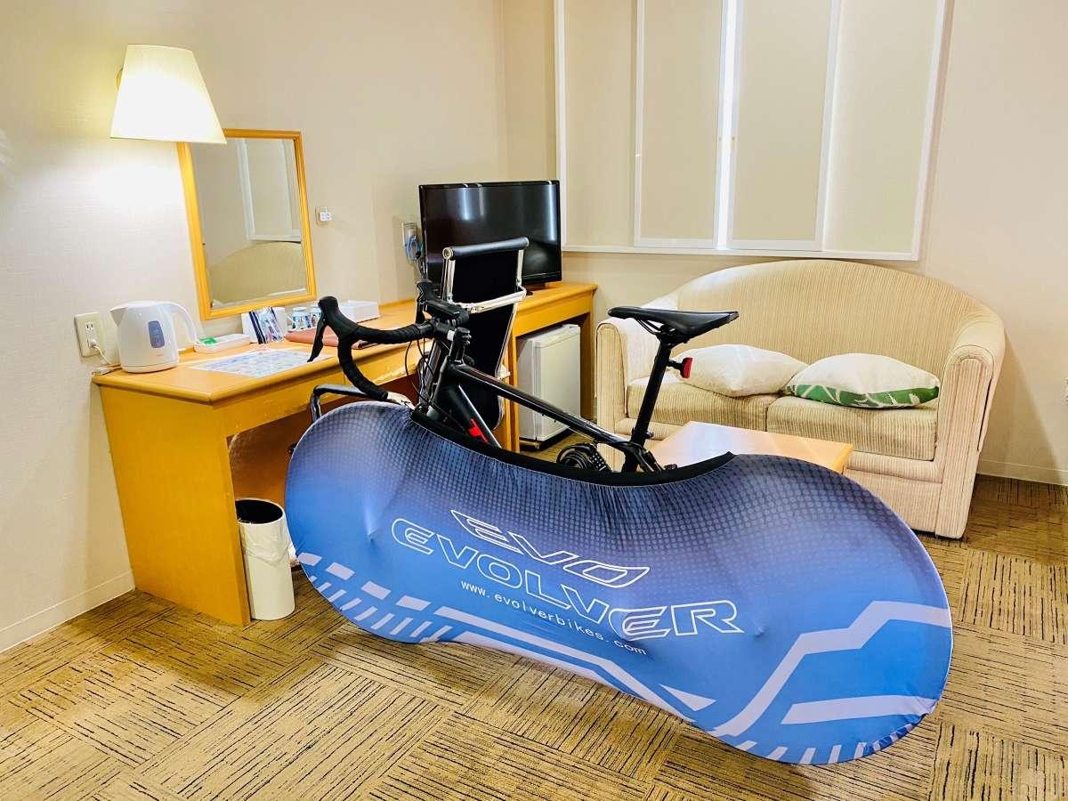 専用の自転車カバーを貸し出ししております♪客室への持ち込みOK