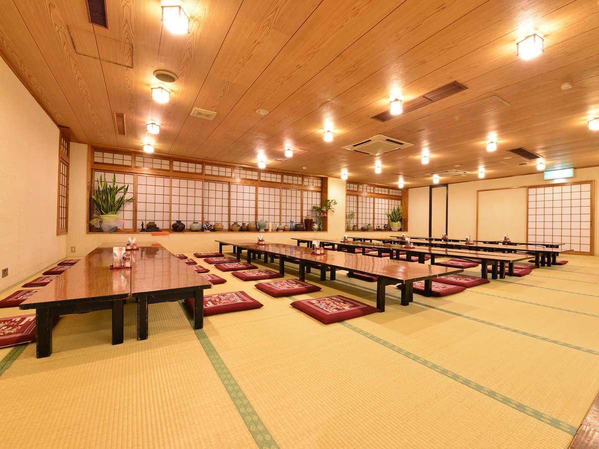 *【館内/宴会場】「紬の間」座敷の朝食会場としてもご利用いただけます。