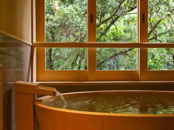 【貸切風呂 伊勢の湯】伊勢砂利を使った檜のお風呂 ※無料/ご予約不要