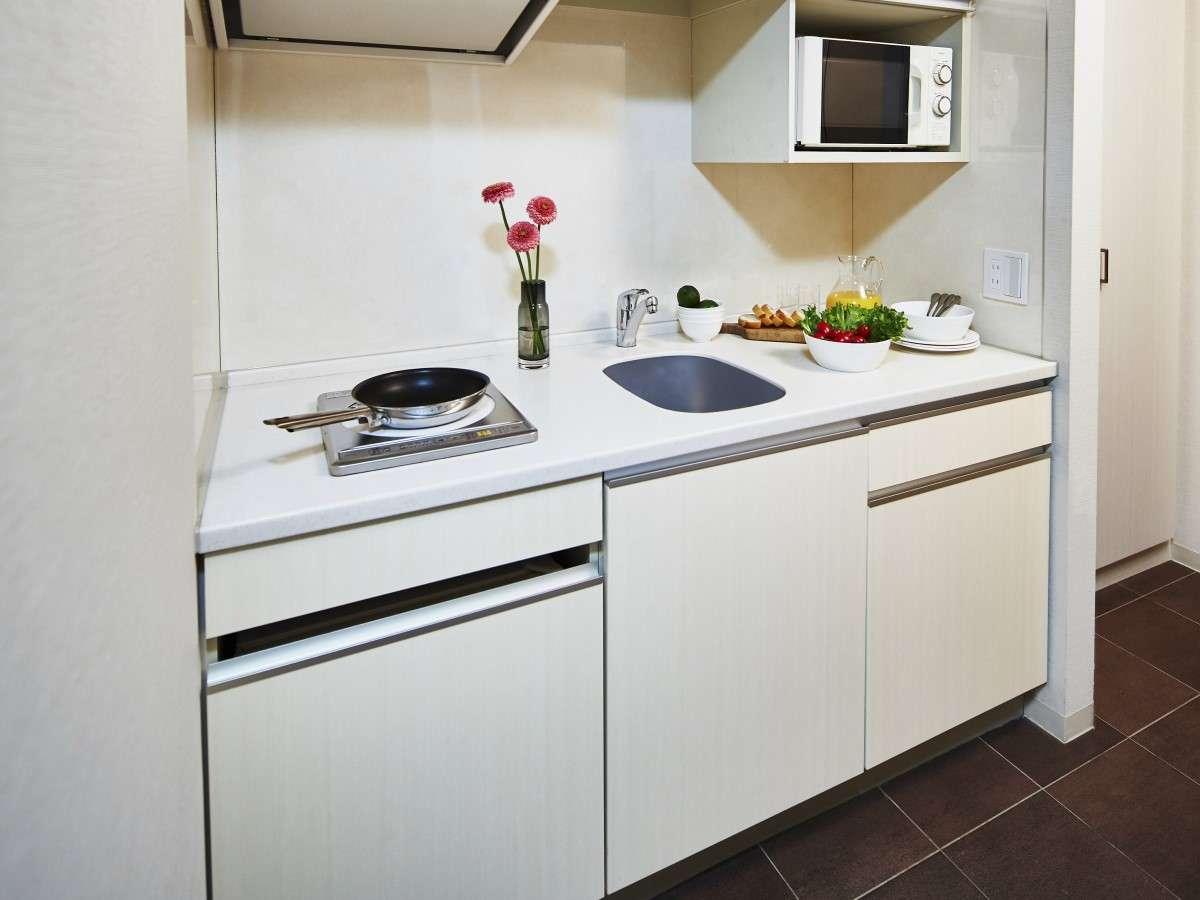本格的なお料理から、電子レンジで温めるお食事など、キッチン付きの利便性をお試しください。