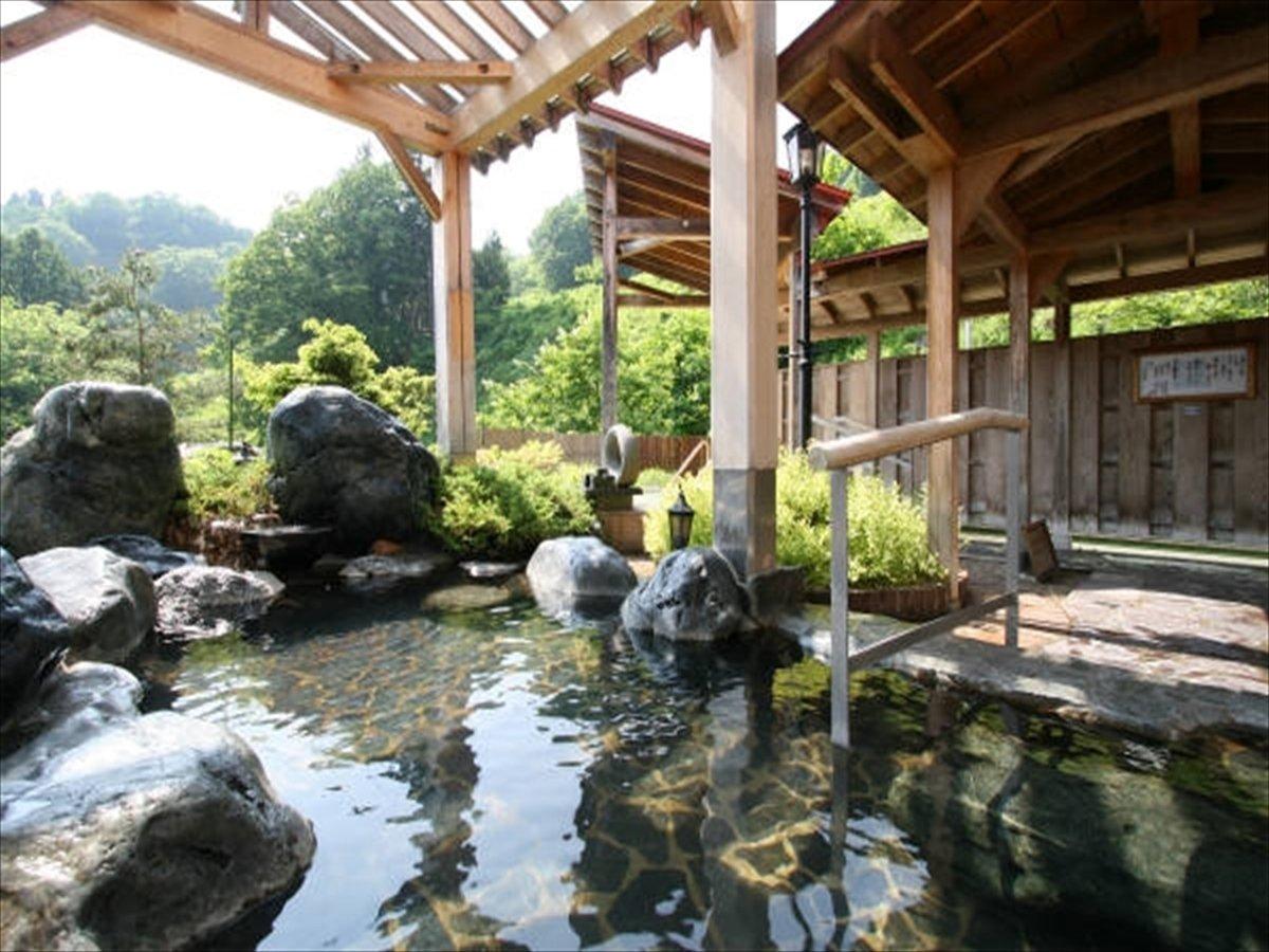 【風の湯】蓬平を一望できる露天風呂