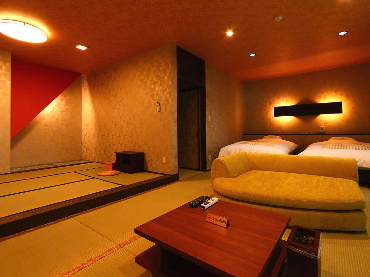 ◆桜天女◆露天風呂付スィート70㎡【セミダブルツイン・和室】