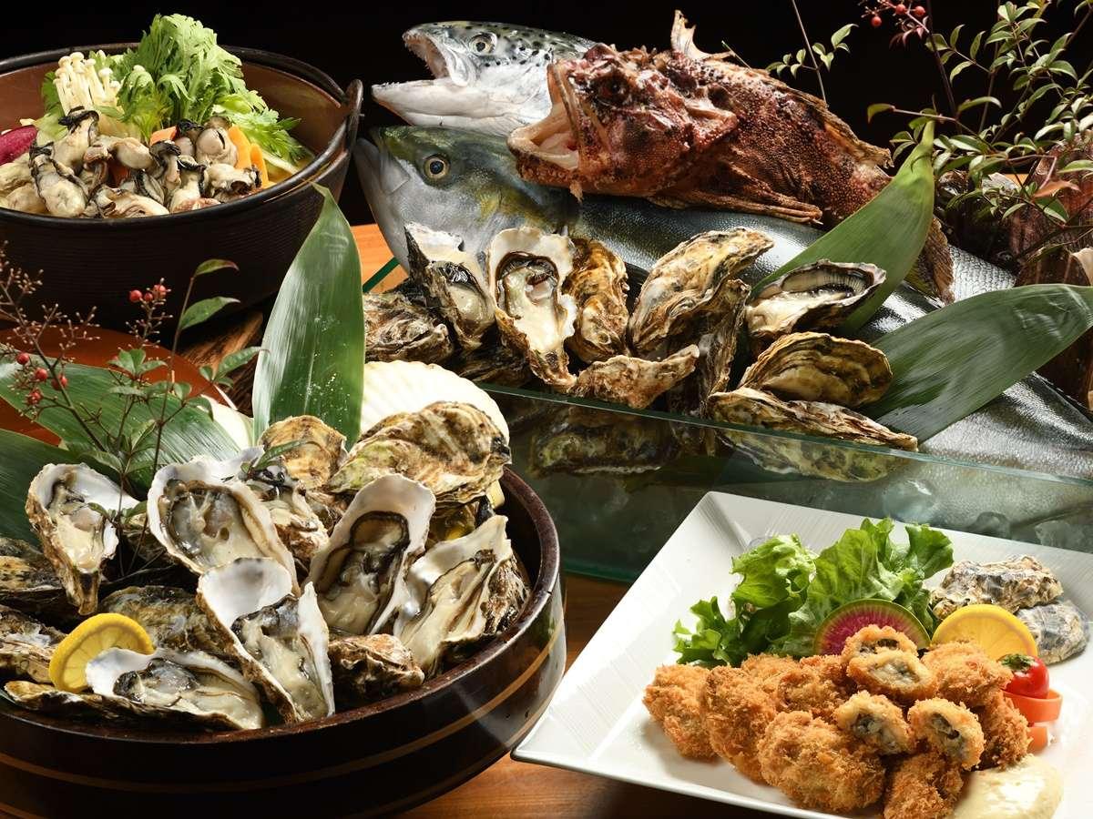 【冬季限定】牡蛎料理イメージ【和風海鮮バイキング】