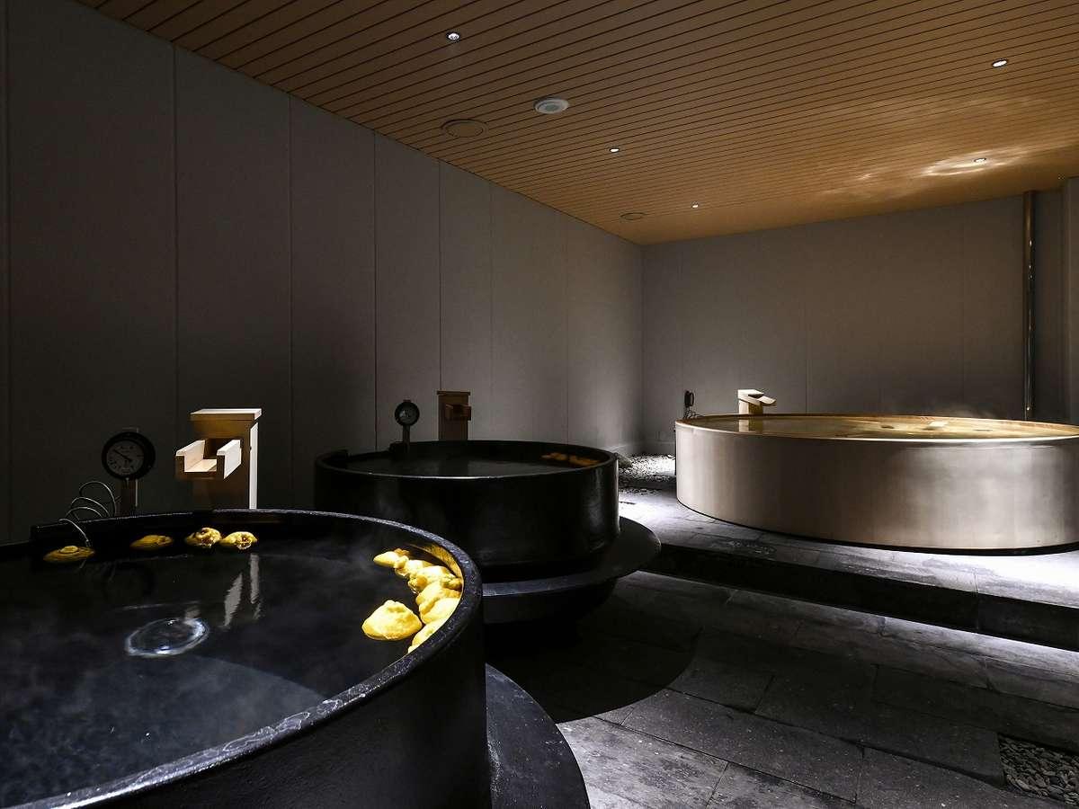 2種類のお風呂をお楽しみいただける大浴場露天風呂