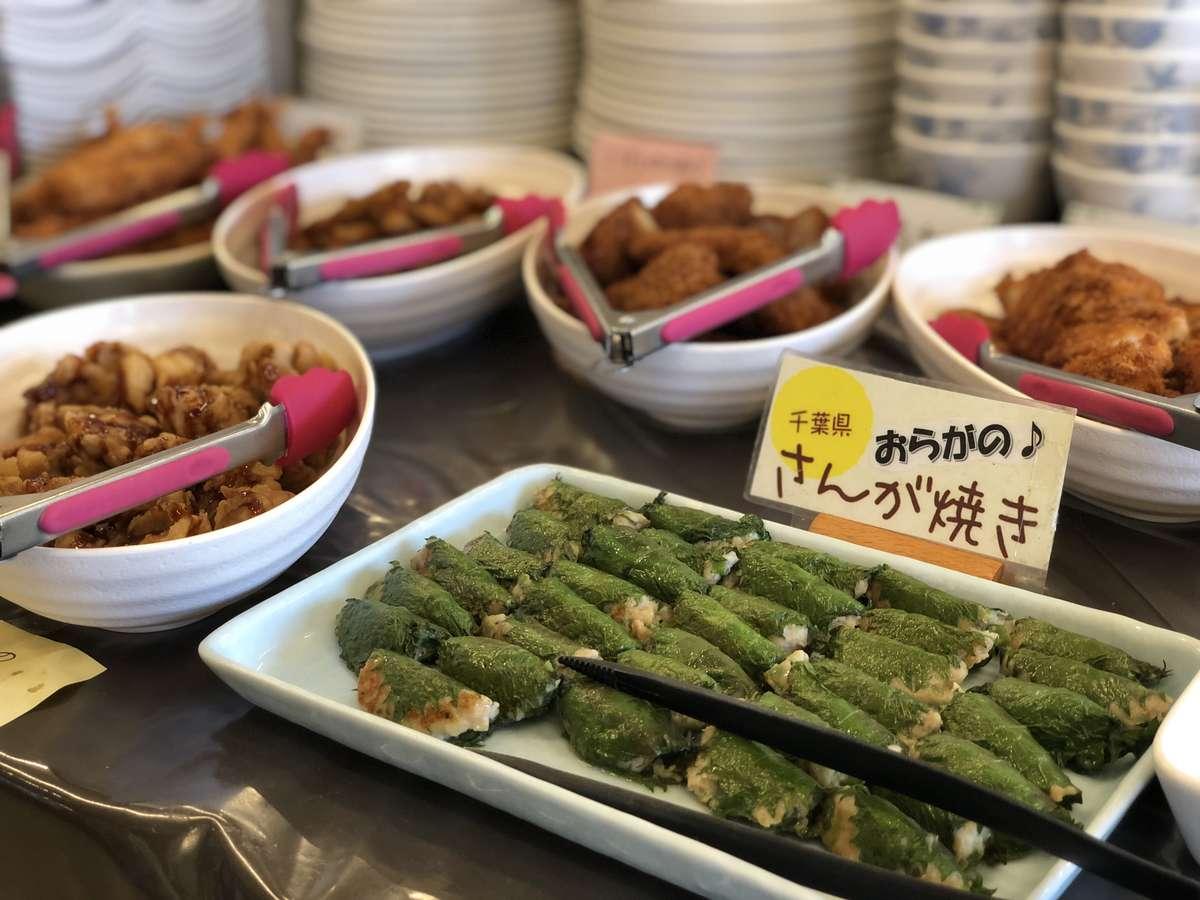 日替わりの地元料理の手作り惣菜
