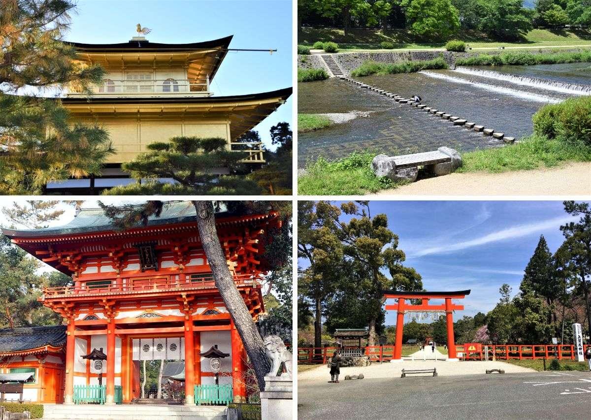 世界遺産の上賀茂神社や金閣寺、千利休ゆかりの大徳寺、鴨川など市内北部散策に便利