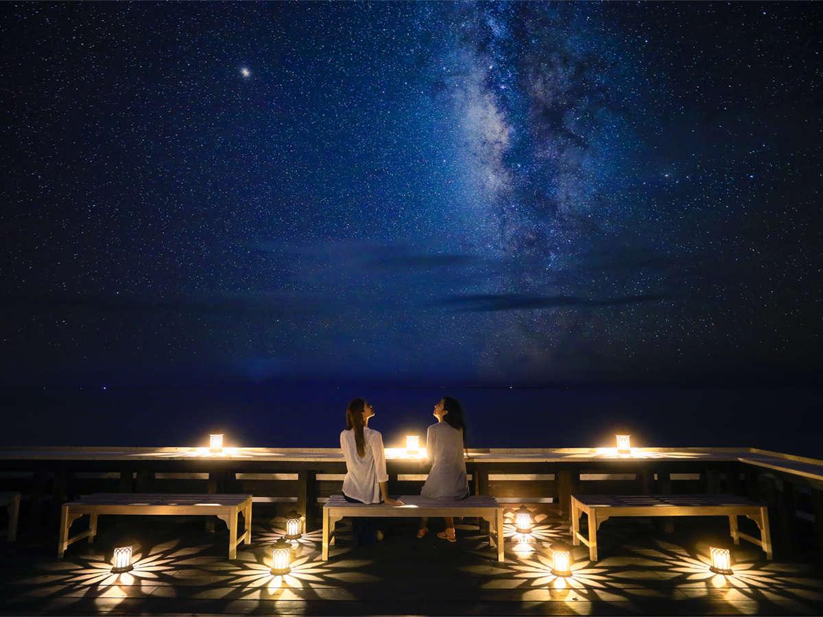 世界有数の星空に抱かれた星の島で、満天の星に癒される島時間をお楽しみください。