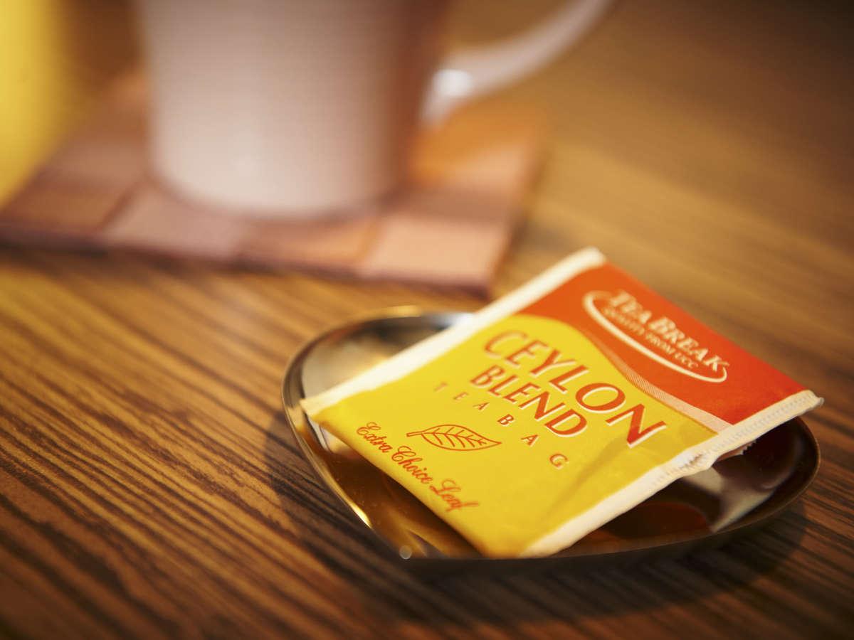 レディースルームでは紅茶をプレゼント♪