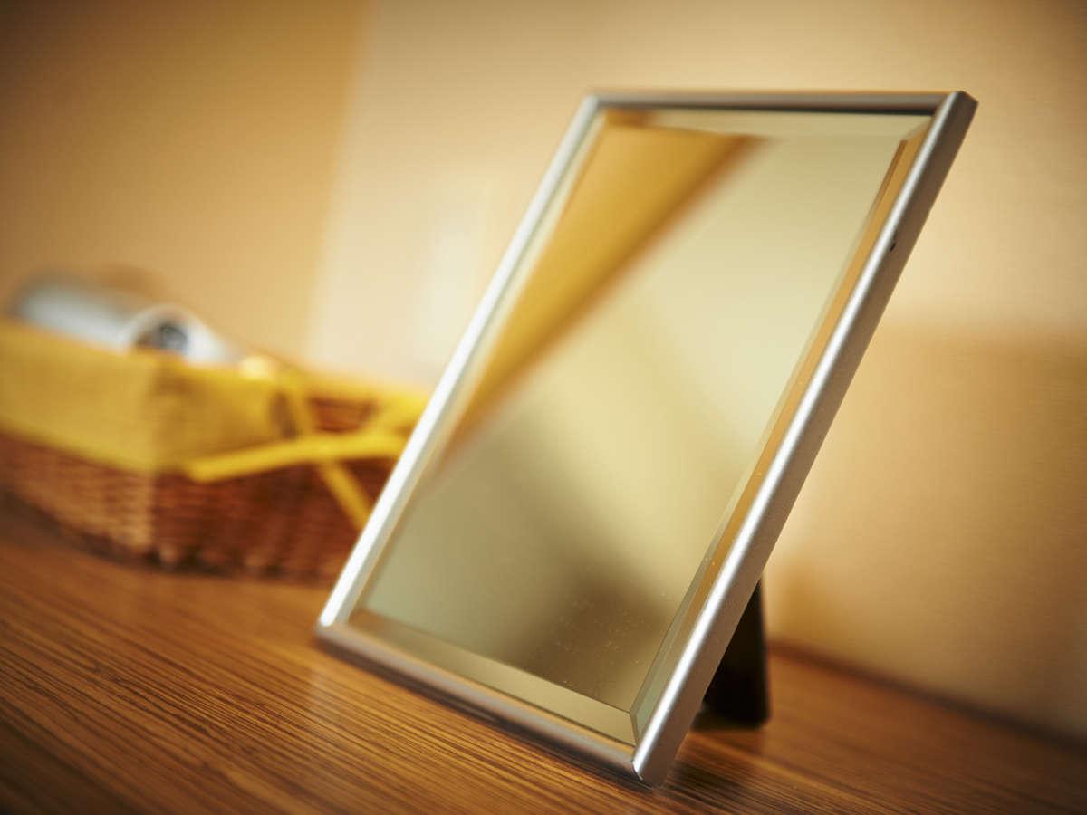 お化粧がしやすい大き目の鏡もレディースルームだけの特典です!
