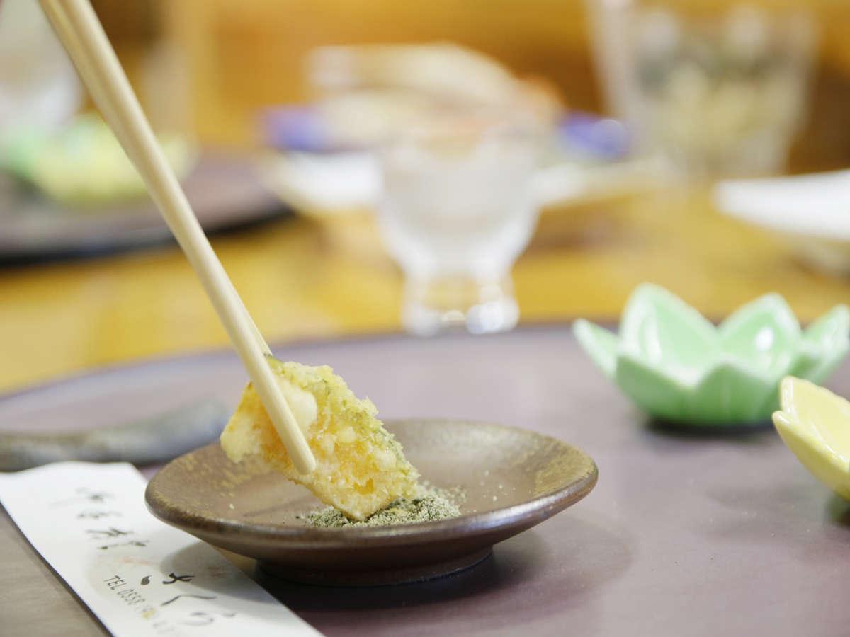カウンター食◆その時期に合わせた新鮮食材を天麩羅に