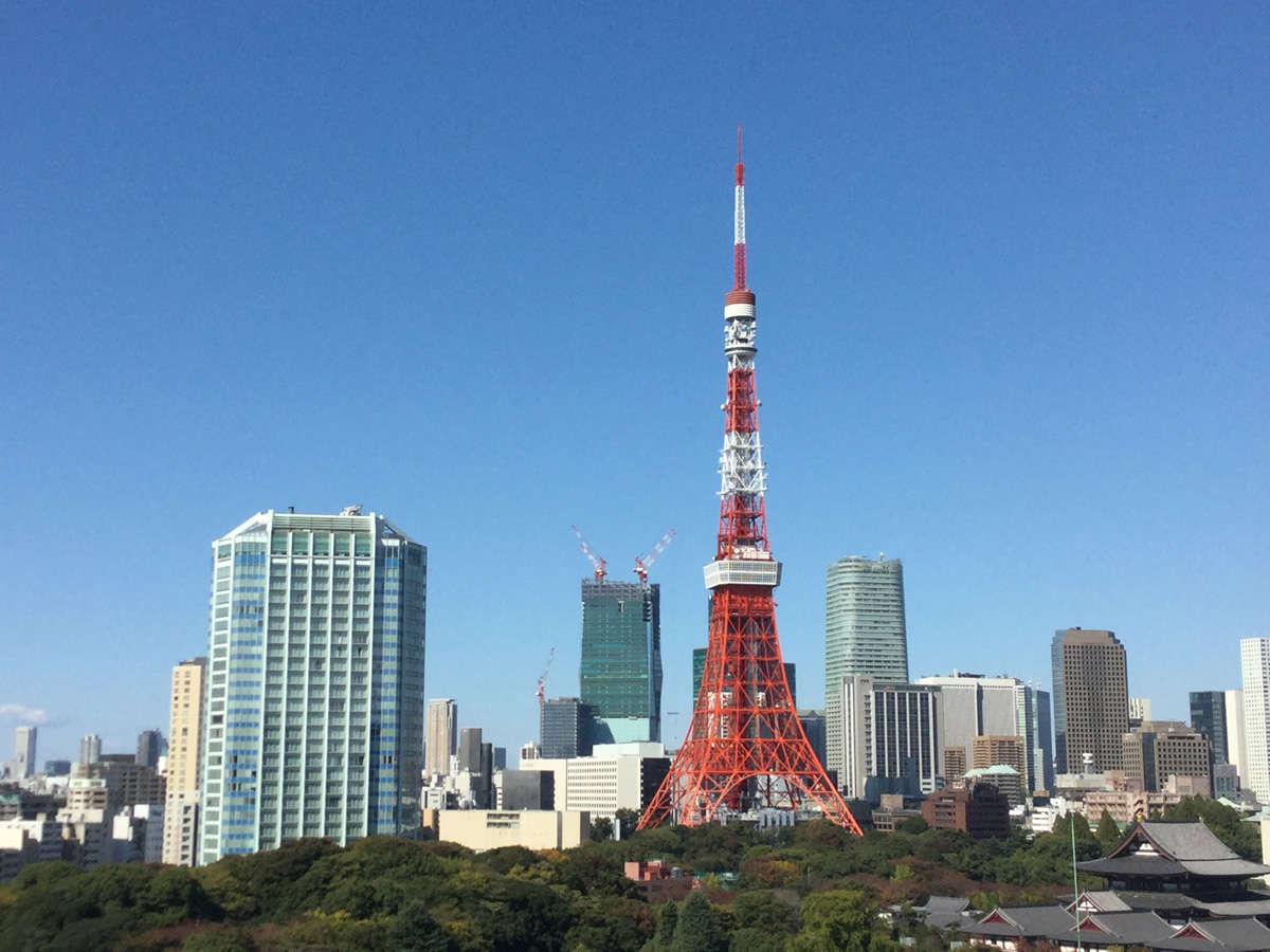 セミダブル・スタジオツインからの東京タワー全景