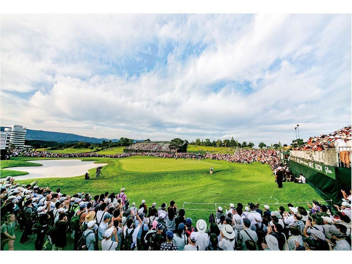 【2019年第52回日本女子オープン】最終組最終ホールグリーン(白山ヴィレッジGCクイーンコース)