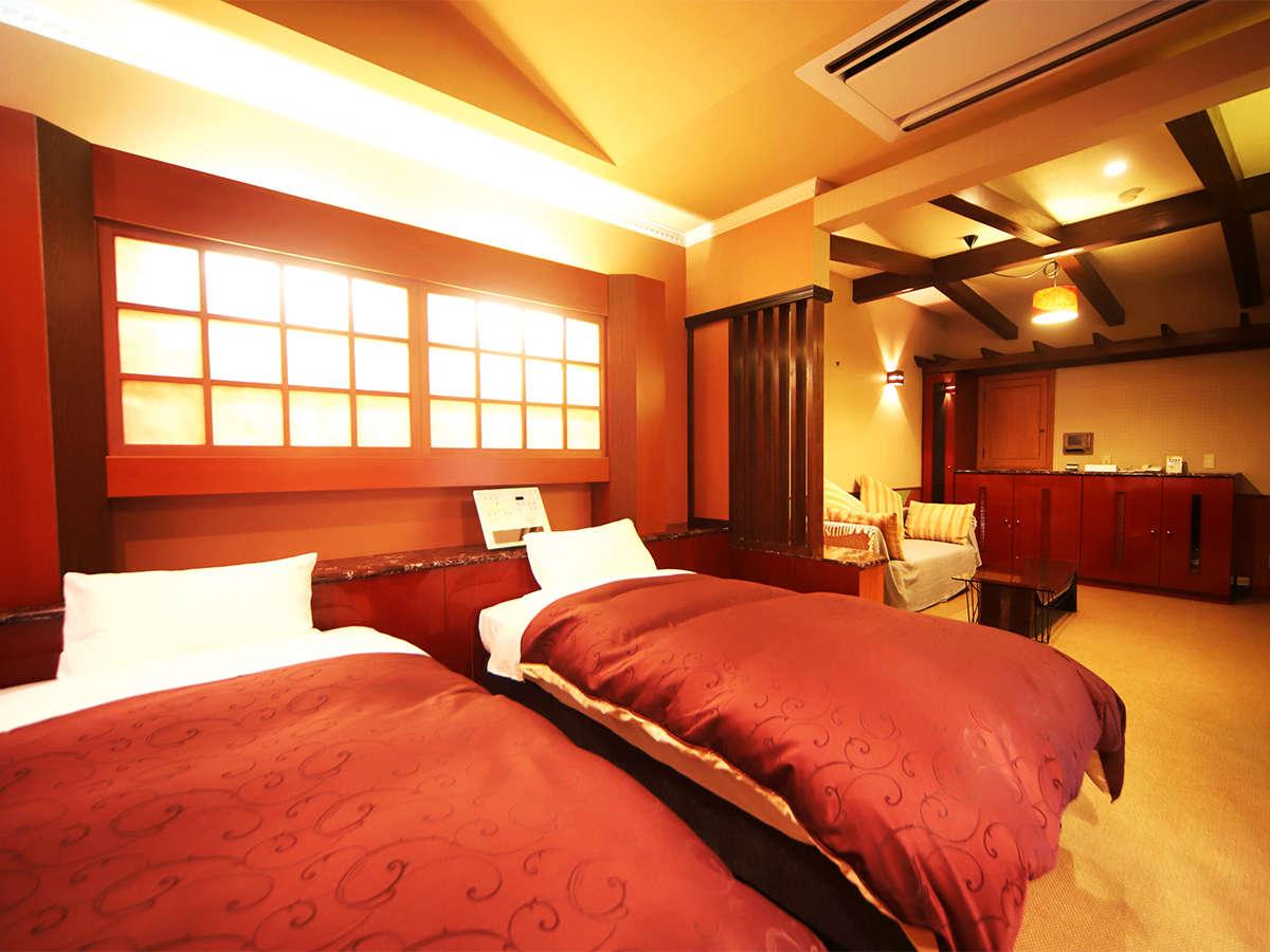 ・お部屋一例 ツインルーム 広々31平米 シングル×2台を設置!