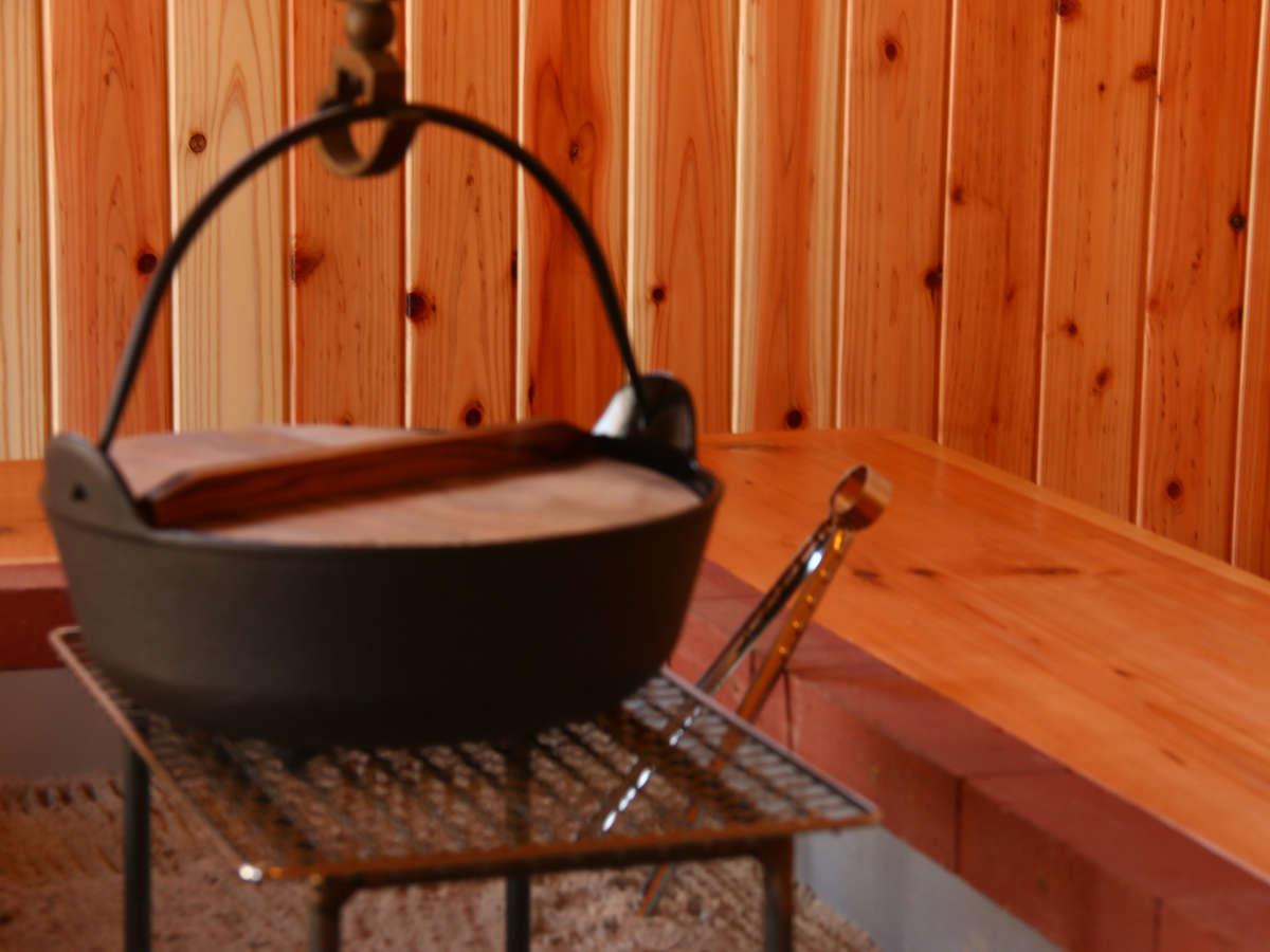 【囲炉裏部屋】心まで温かくなる囲炉裏のある空間