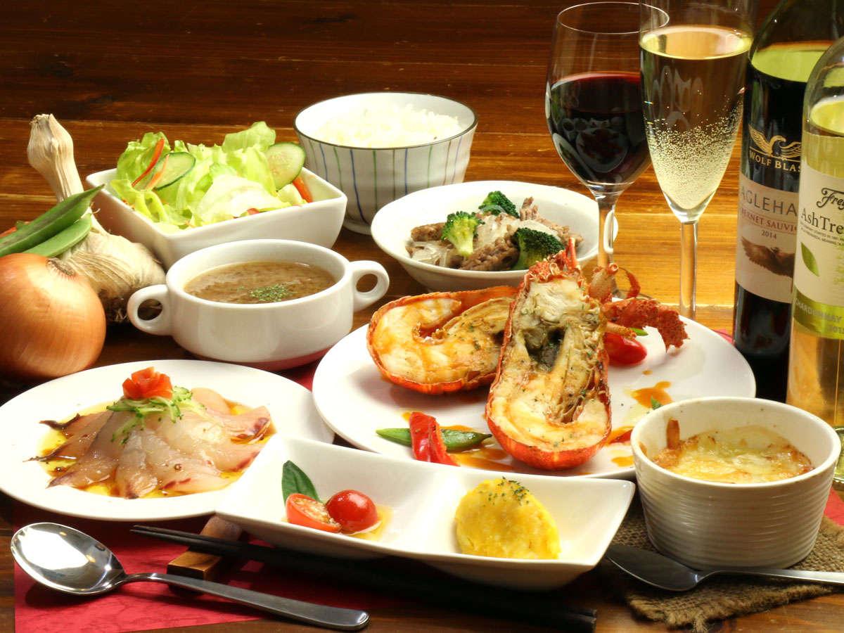 ★【夕食一例】「伊勢海老のグリル」をメインにしたコースの一例