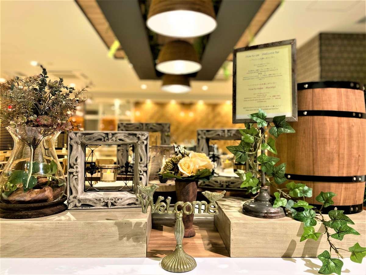 1Fロハスラウンジで毎日ウェルカムドリンクや無料のお夜食サービス等を行っております。