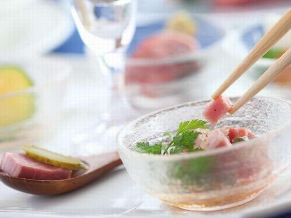 【ディナー例】見て楽しんで食べて「しあわせ~♪」の冷製のオードブル♪