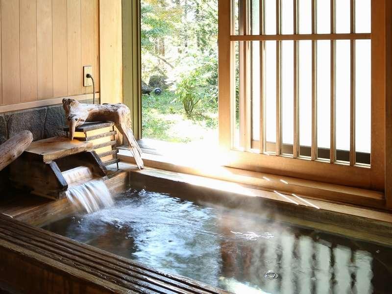 ■新館貸切風呂■ 檜風呂。しあわせ貸切風呂♪