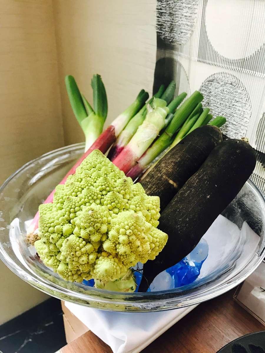 【朝食・ランチ】日替わりで色々な鎌倉野菜がお召し上がりいただけます。
