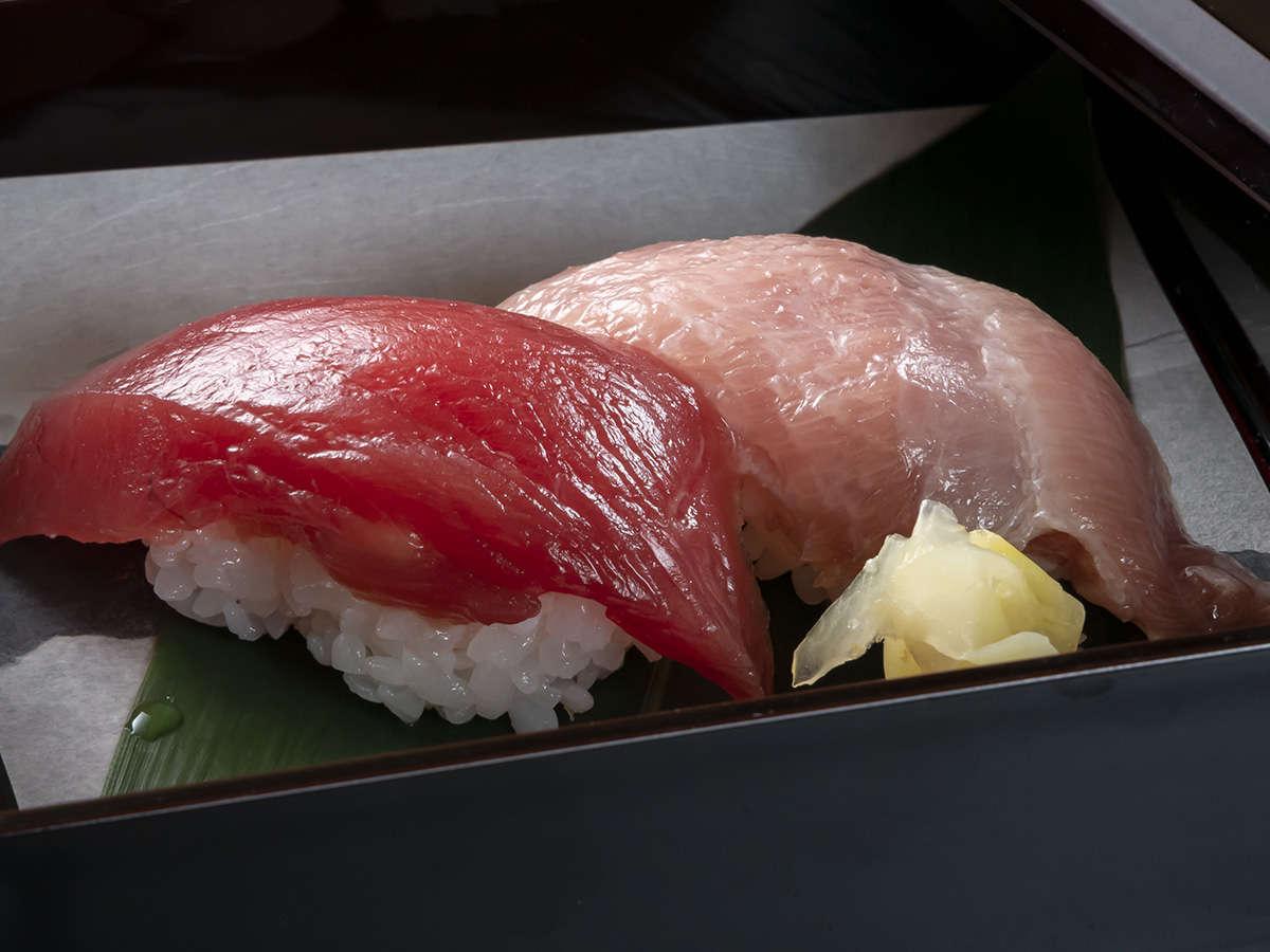 まぐろ消費大国山梨で、日本近海産本鮪のお寿司をお楽しみください
