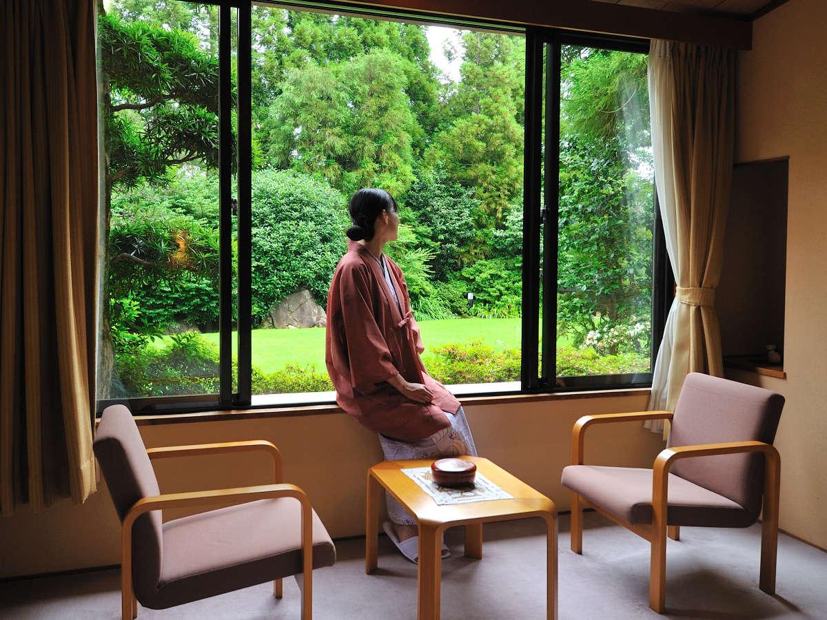 【部屋イメージ】自然に癒され、緑に癒されるお部屋の景観。