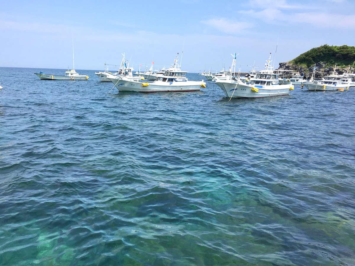 【景色】漁中に見える壱岐の海。その日に獲れた魚の中でもとびきり良いものを提供します!