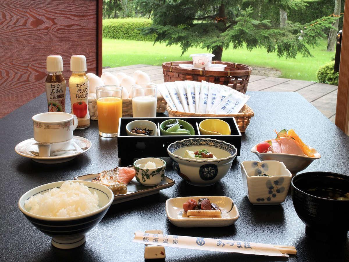 *朝ごはんをしっかり食べて健康的な朝を!(一例)
