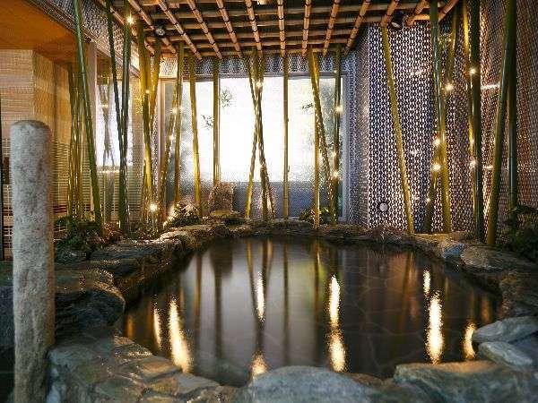 ◆天然温泉の大浴場(写真は岩風呂【男性】)午後3時~翌朝10時まで夜通しご利用頂けます♪