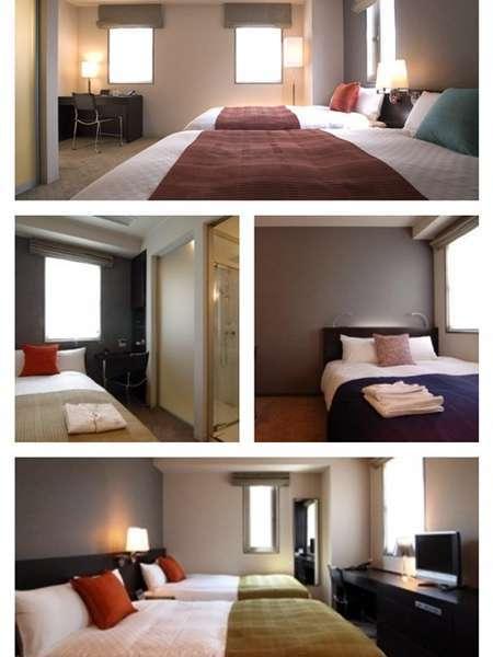 スタイリッシュモダンな客室はコンパクトながら空間を考えた構造とデザインです。