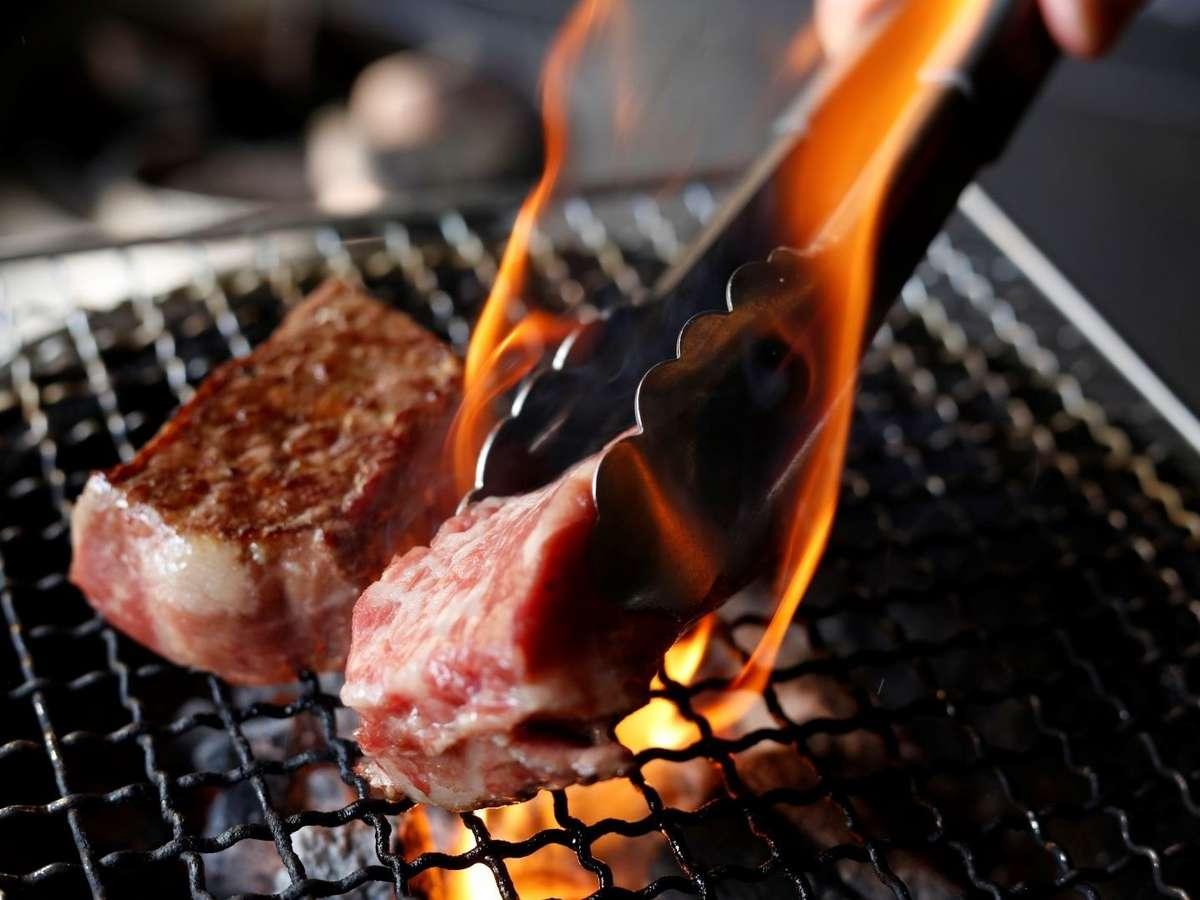 上州牛サーロイン炭火焼き【注意:スタンダードプランには付きません】