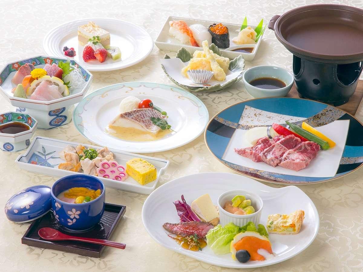【築山会席「雅」プラン】豪華会席料理をお楽しみください。