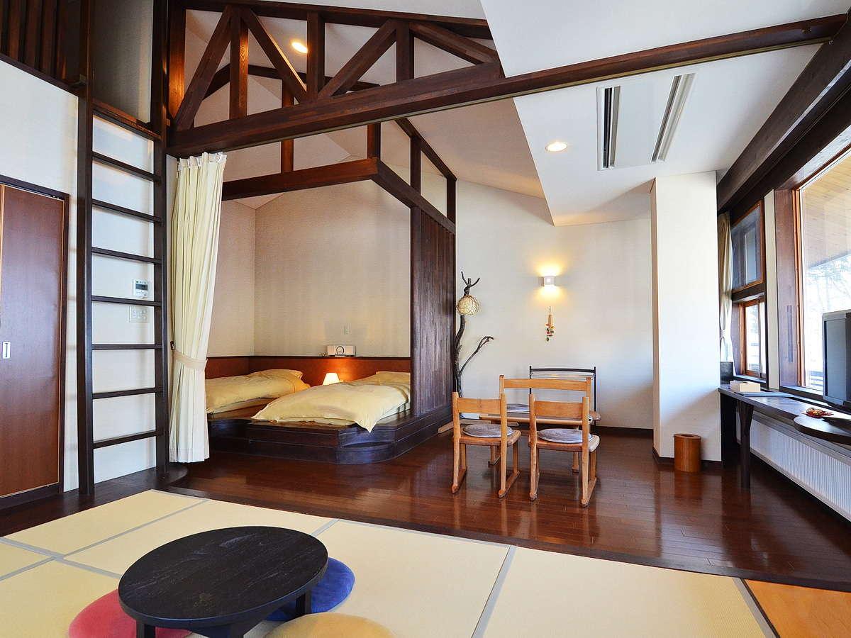 新館「欅(けやき)」:ロフト付で開放感のあるお部屋です。