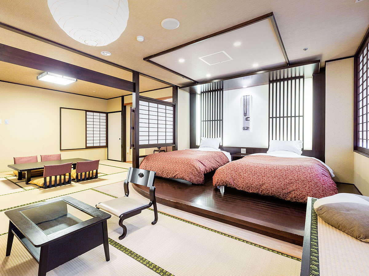 ■【本館最上階◇特別室】源泉かけ流し天然石風呂付のお部屋です♪禁煙