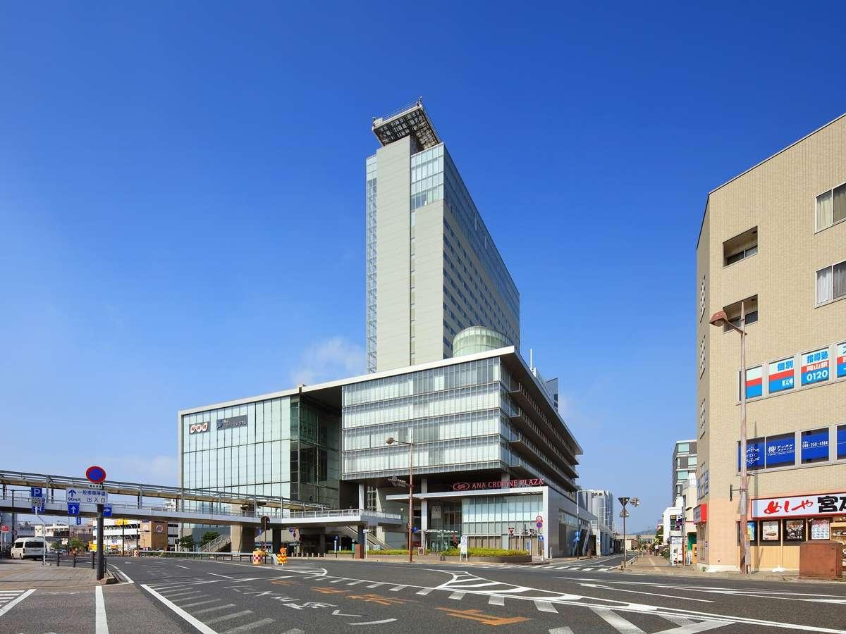 【外観】岡山駅より徒歩1分の好立地。アクセス抜群なのでビジネスにご旅行に便利です。
