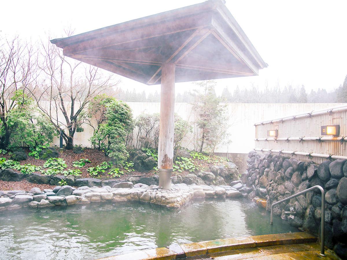 阿蘇の雄大な自然に抱かれた温泉で、心も身体もリラックス♪(画像は和風露天風呂)