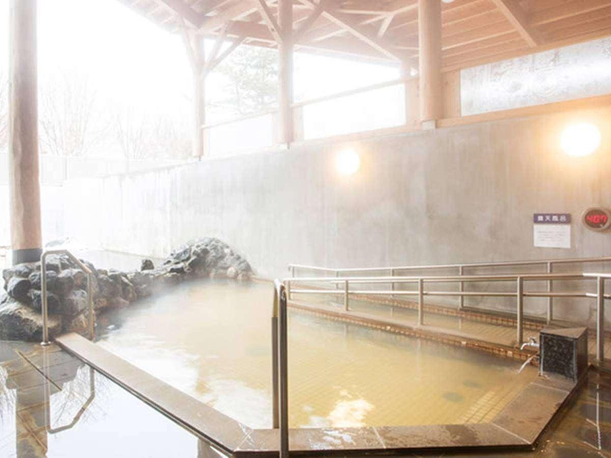 *露天風呂/北海道初のタラソテラピー泉。免疫力や自然治癒力を促進。